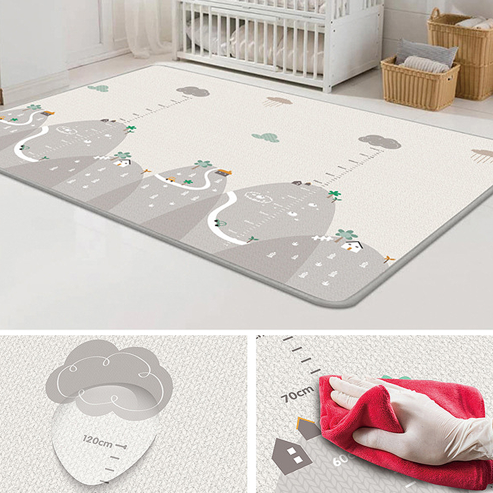 Baby Carpet Game Mat Foam Puzzle Pad Child Child Crawling Baby Blanket 200 * 180cm image