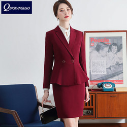 Women's Office Wear long Sleeve Blazer And Long Pant Or Skirt 2 Pieces Set High Quality Ladies Work Wear Business suit