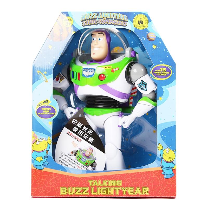Disney Toy Story Buzz Lightyear bande son film avec des ailes rougeoyantes figurines Action poupées garçons jouets pour les cadeaux de la journée des enfants 2D10