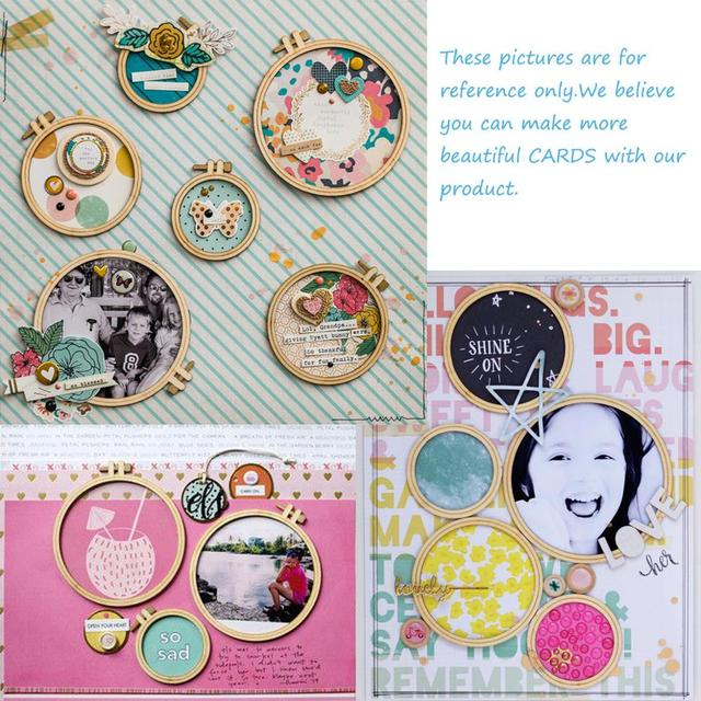QITAI 24PCS/SET Plywood Embroidery Hoops Circle frame Wooden Crafts Wedding party Gift DIY scrapbooking home Decoration Wf236 6