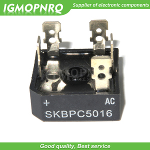 10PCS free shipping SKBPC5016 three phase bridge rectifier DIP 50A 1600V copper foot plastic shell 100% new original