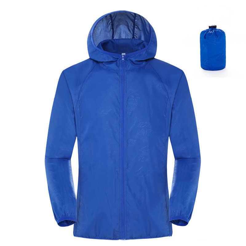 Abrigo de lluvia de secado rápido para mujer, impermeable, ligero, de poliéster, impermeable, gabardina