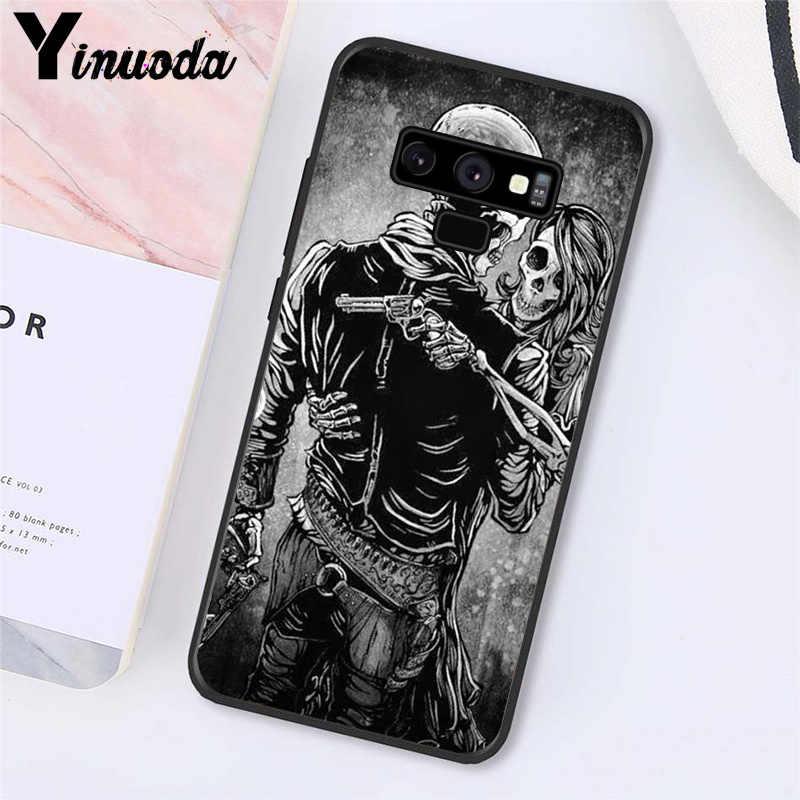 Funda para teléfono Yinuoda Skull Crow flor amor Cuervo para Samsung Galaxy A50 Note7 5 9 8 note 10 Pro J5 J6 primer J610 J6Plus J7 DUO