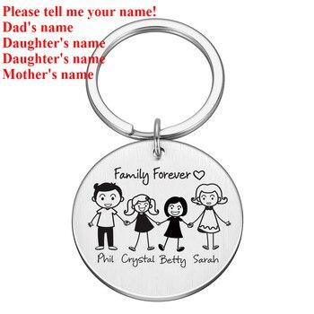 מחזיק מפתחות עם חריטת שמות הילדים 10