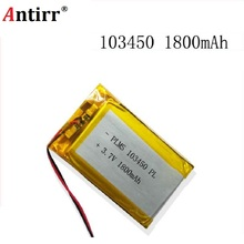 Free shipping Small pudding kid learning story machine 103450 general charging 3.7 v lithium polymer battery 1800 mah batteries