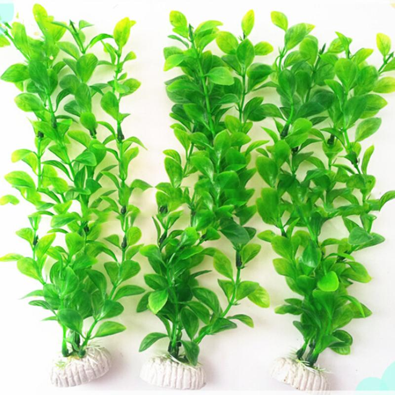 1PCS 10.6inch Artificial Underwater Plants Aquarium Fish Tank Decoration Green Purple Water Grass Viewing Decorations Decorative
