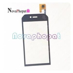Черный сенсорный экран для CAT S30 S31 S40 S41 S50 S60 B15 B15Q сенсорный экран дигитайзер Передняя стеклянная Сенсорная панель тачпад + трек