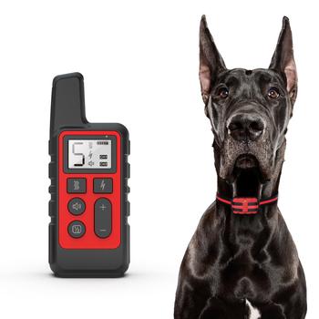 500m elektryczna obroża do szkolenia psa Pet zdalnie sterowana wodoodporna ładowalna z wyświetlaczem LCD dla wszystkich rozmiarów Shock Vibration Sound tanie i dobre opinie HAIMAITONG Obroże treningowe CN (pochodzenie) Z tworzywa sztucznego S181010