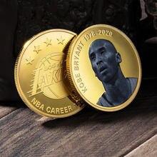 Lakers Star-medallones conmemorativos de Kobe Bryant, regalo para decoración del hogar, colección de monedas de estilo de EUA, insignias de jugador de baloncesto de América