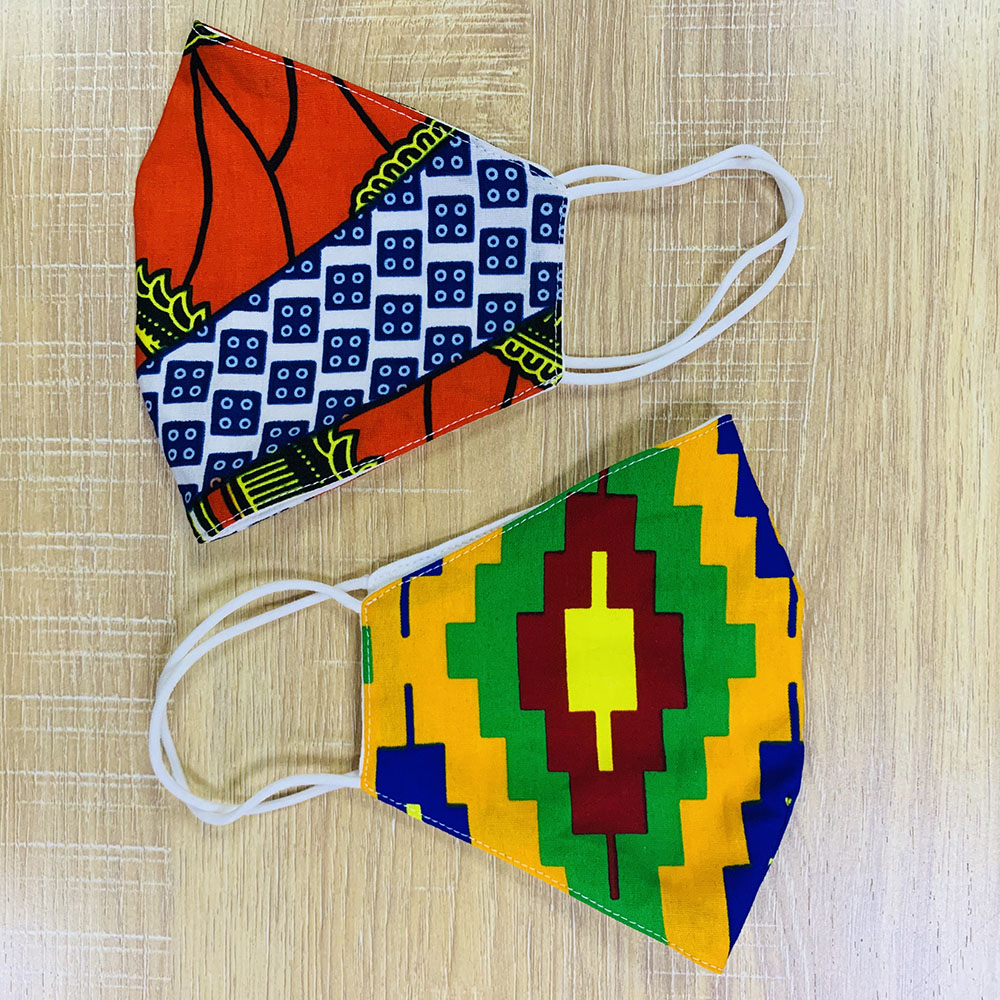 African Ankara Print Masks Cotton Dust Mask Face Masks Anti-bacterial Dust Cotton Cubre Bocas Masks