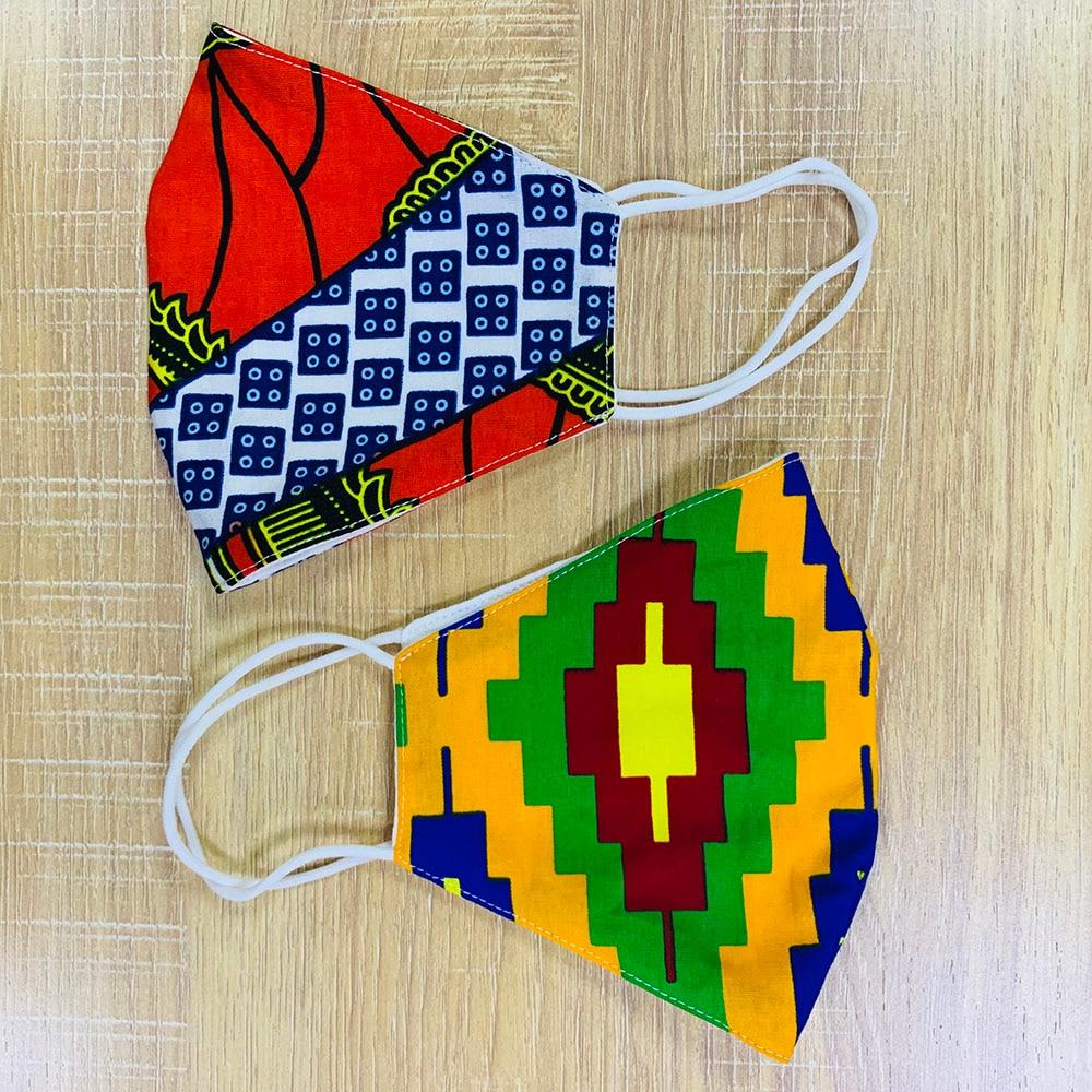 African Ankara Print Masks Cotton Dust Mask Face Masks Anti-bacterial Dust Cotton Cubre Bocas Masks