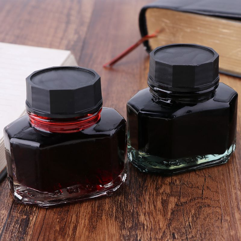 50ml Bottled Glass Smooth Writing Fountain Pen Ink Refill School Student Stationery Office Supplies