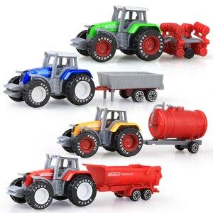 Image 2 - Die cast Farm Vehicles Mini Car Model Engineering Car Model Tractor Engineering Car Tractor Toys Model for Kids Xmas Gift