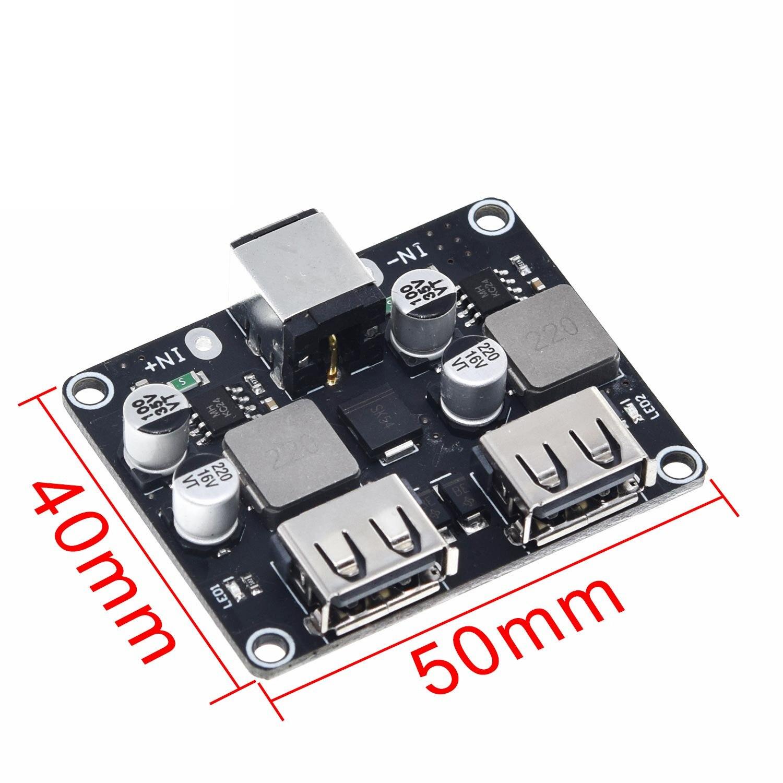 1 шт. 2-полосная Быстрая зарядка понижающий модуль 12v24v к Qc3.0 Быстрая зарядка двойная зарядная Плата USB поддержка мобильный телефон FCP