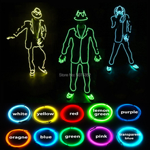 Neon Lighting Dance Suit Stage Show Attractive Bling Bling Led Costume EL Wire Dance Costume For Night Party Carnival цена 2017