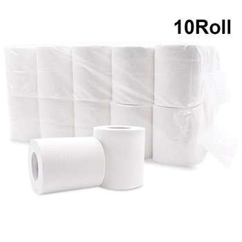 10 Rolls 4-Ply White Toilet Paper Smooth Soft Premium Toilet Paper Rapid Dissolving Toilet Paper Bamboo Pulp Hotel Hand Nakin цена 2017