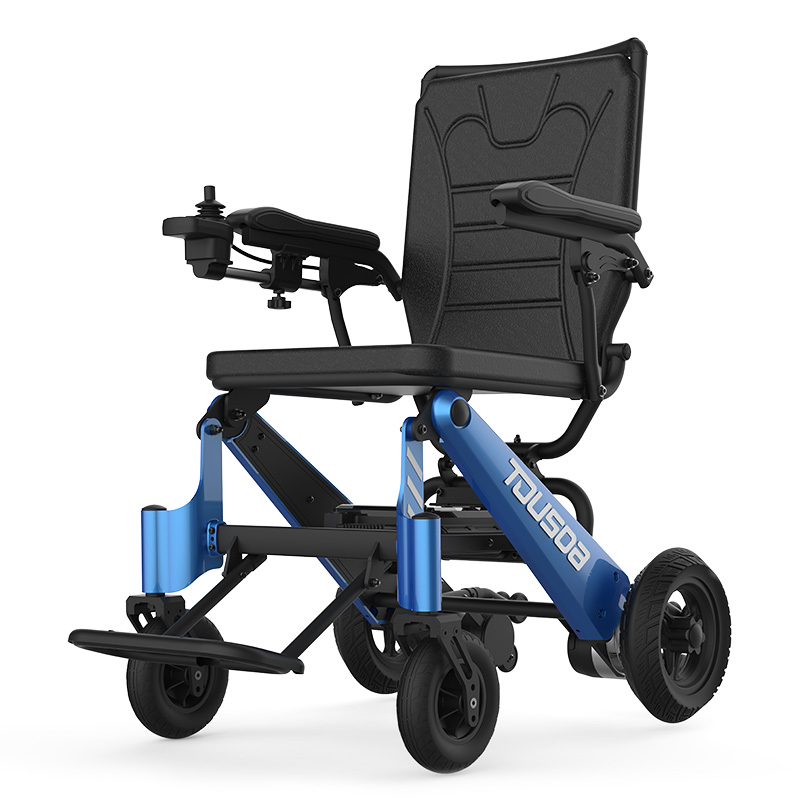 2019 New Product CE Lightweight Portable Travel Aluminum Folding Lithium Battery Power Electric Wheelchair