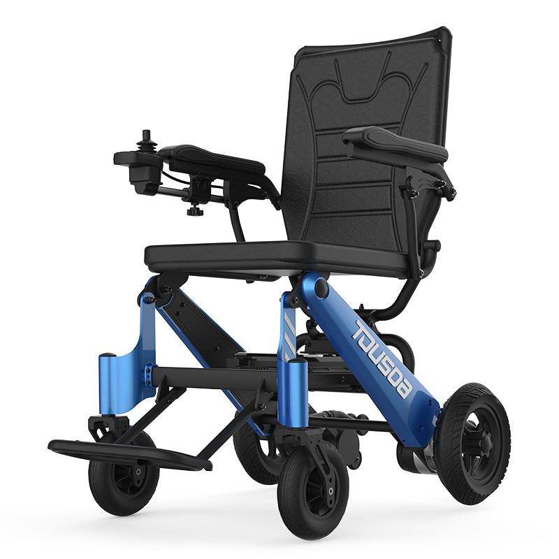 2019 nouveau produit CE léger Portable voyage en aluminium pliant batterie au Lithium puissance fauteuil roulant électrique
