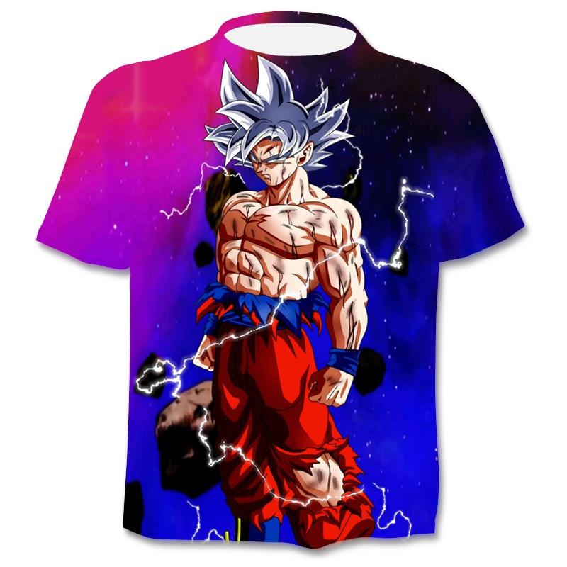 Anime Men's T-Shirts Fun 3D Boys Clothing Fashion Harajuku Tops  Summer O-Neck Shirts Plus Size Street Clothing