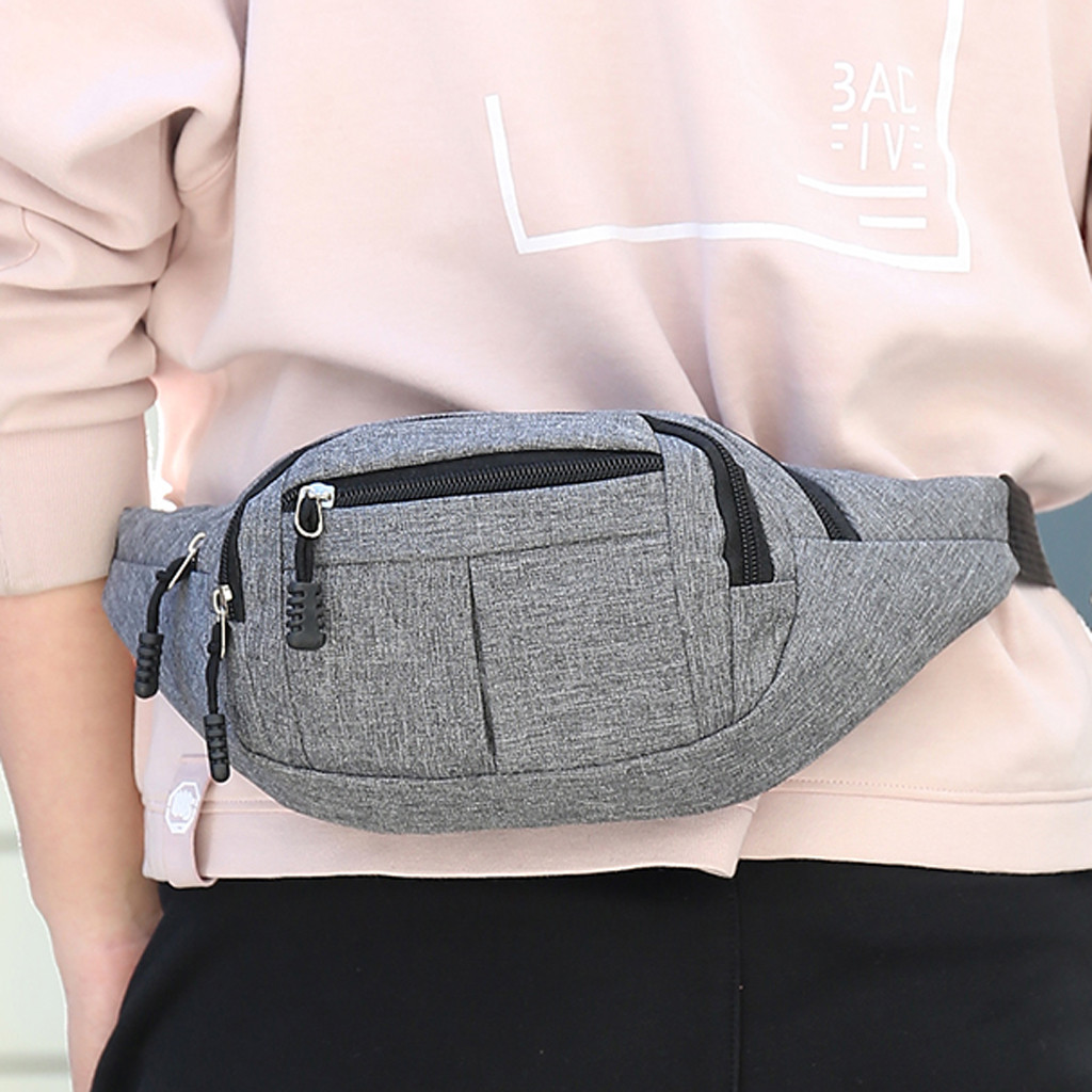 Men's And Women Simple Leisure Fashion Oxford Sport Fitness Waist Packs Fitness Bag ZIPPER PHONE BAG 826