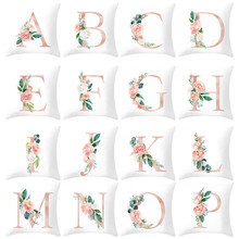 Cushion-Cover Pillowcase Home-Decoration 26-Letter-Printed Car Sofa Alphabet Cojines