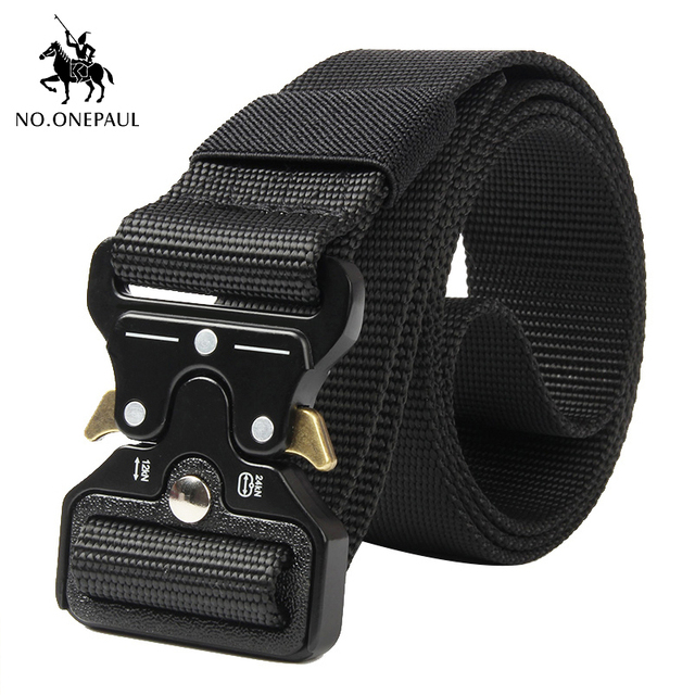 Tactical Military high quality Nylon men's training belt metal multi-functional buckle outdoor sports hook new 1