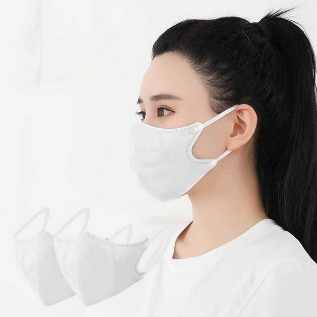 1Pcs Solid Color Non-woven PM2.5 Mouth Mask Anti Dust Mask Fashion Breathable  Windproof Mouth-muffle Bacteria Proof Flu 1