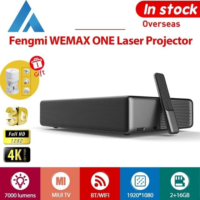 Fengmi Projetor 4K  WEMAX ONE 4K Full HD 1080P 3D 7000 lumens 2 + 16GB Android 6.0 ALPD Bluetooth WiFi WiFi 150 polegadas 3000: 1 TV MIUI do projetor MIUI da Appotronics 0.233: 1 Português 2