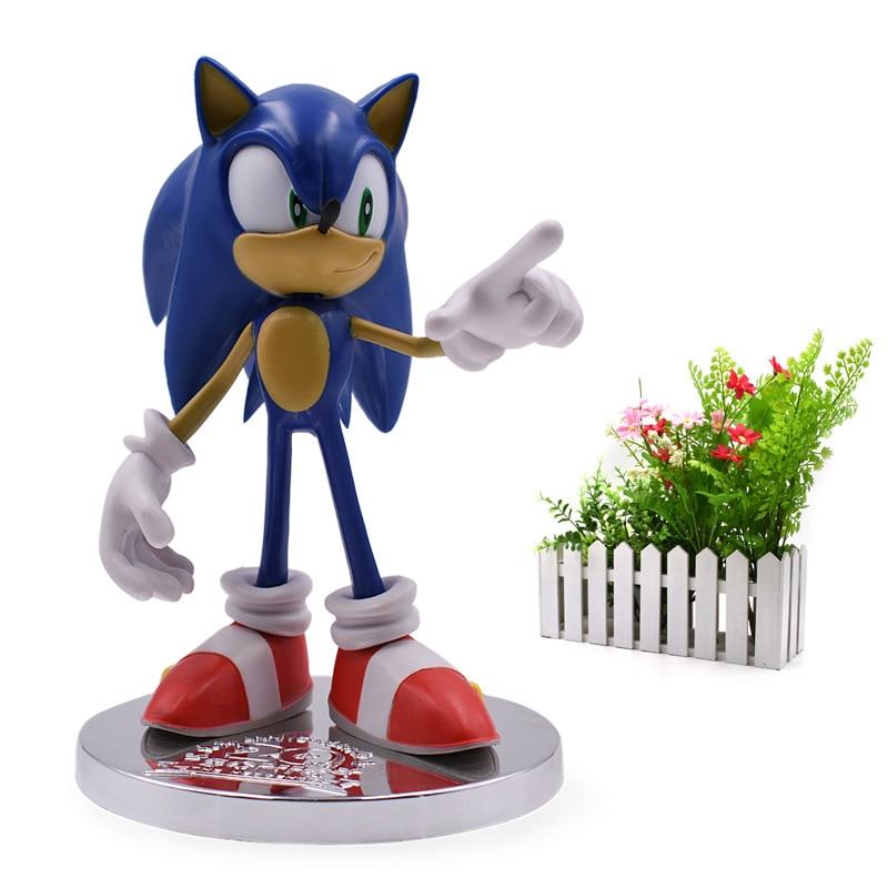 2018 Nova Chegada Anime do Sonic PVC Movable Boneca Super Sonic 20th Anniversary Figura Brinquedo Para Crianças 6