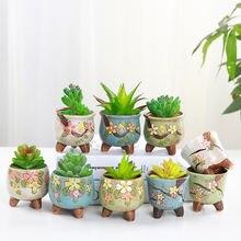 Суккуленты мини керамические цветочные горшки современный цветочный