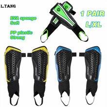 1 Pair Football Shin Guard EVA Sponge Football Soccer Shin Pads Calf Protector Futbol Supplies L373