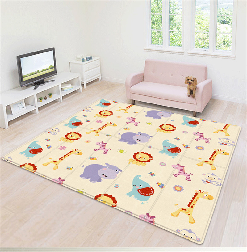 Waterproof Baby Play Mat Baby Room Decor Home Foldable Child Crawling Mat Double-sided Kids Rug Soft Foam Carpet Game Playmats
