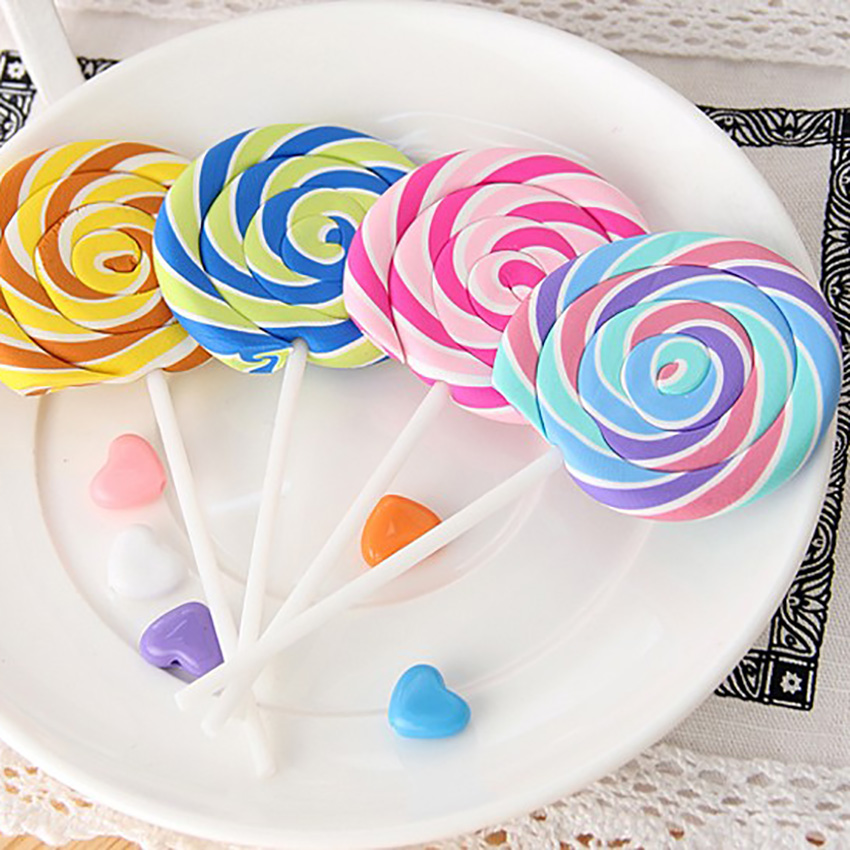 Creative Colorful Lollipop Pencil Erasers Korean Novelty Erasers For Party Favors School Classroom Prizes Rewards Kid Gifts