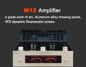 Image 4 - M12 HIFI Khuếch Đại Công Suất Cao Âm Thanh Stereo Nhà Bass AMP Bluetooth Ống Chân Không Amplificador Hỗ Trợ USB DVD MP3 220V hoặc 110V