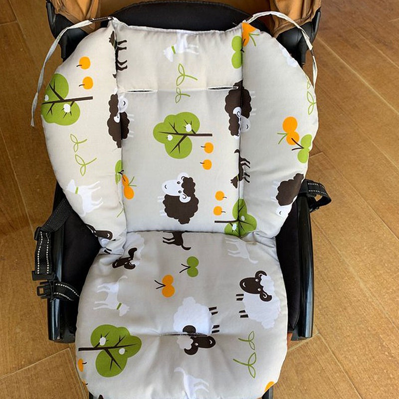 Baby Stroller Cushions Cotton Baby Chair Seat Pads Thicken Pushchair Mats Breathable Pram Car Seat Mats Stroller Accessories