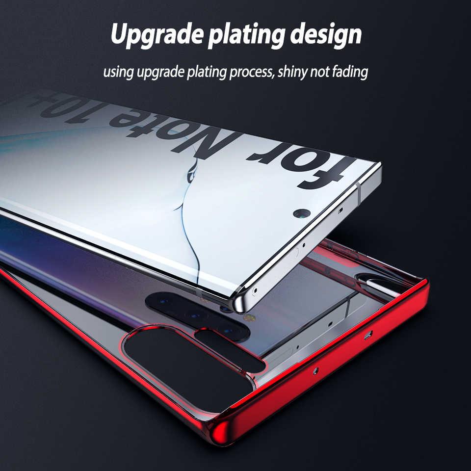 Bening TPU Case untuk Samsung Galaxy Note10 Ditambah 10 Plus Cover Case Case Penutup Plating untuk Samsung Note 10 Plus Pro s10 S10e Kasus