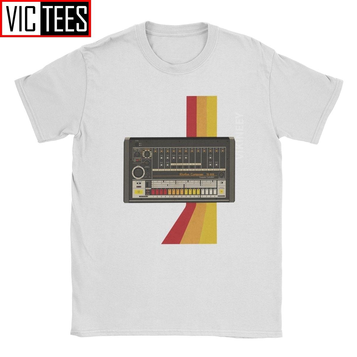 Analog Synthesizer Shirt Instrument Music T Shirts Mens Retro Design Tops Tees