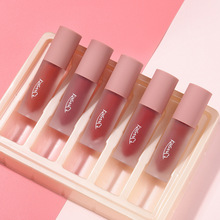 5pcs/set Beauty Glazed Matte Liquid Lipstick Long Lasting Waterproof Glitter Lip Gloss No Fading Lip Tint Clear Lip Stain