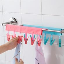 1 шт Портативная сушилка вешалка для одежды для путешествий с прищепкой Нескользящая пластиковая вешалка для носков для путешествий(случайный цвет