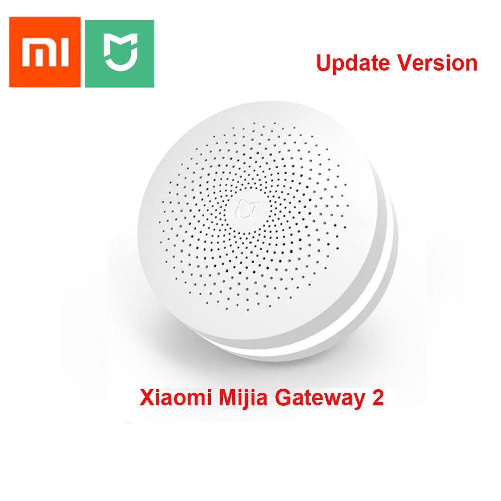 Многофункциональный шлюз Xiaomi Mijia, обновленная версия, 2 концентратора, система сигнализации, интеллектуальное онлайн-радио, ночное освещени...