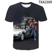 New men'sMarty And His Fusion Power Futuristic Car 3D Printed T-shirt Back To The Future T-shirt children's Top Cool T-shirt