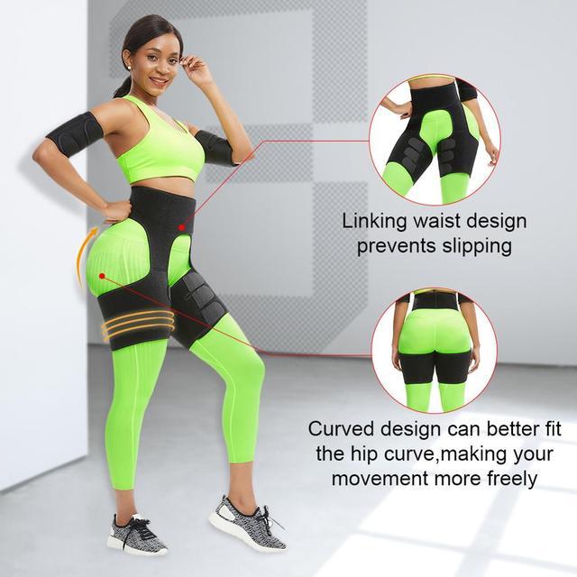 WAIST SECRET Slim Thigh Trimmer Leg Shapers Slender Slimming Belt Neoprene Sweat Shapewear Toned Muscles Band Thigh Slimmer Wrap 2