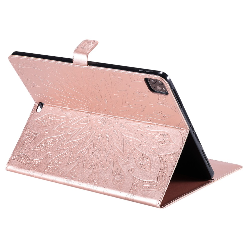 Cover Pro Flower Protective 9 Skin 2020 Shell Leather 12 for Case Embossed 3D iPad
