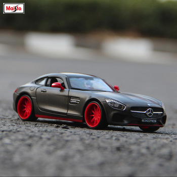 цена на Bburago 1:24 Mercedes-Benz AMG -GT simulation alloy car model simulation car decoration collection gift toy
