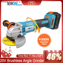 Angle-Grinder Grinding NEWONE Body-Cutting Brushless-Motor Cordless Rotation Li-Ion And