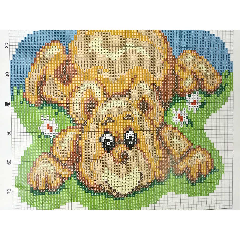 תפס וו שטיח ערכות Cartoon טיגר סורגת שטיח שטיח 100% אקריליק חוט כרית מחצלת סנטה שטיח בית אמנויות עיצוב & מלאכות