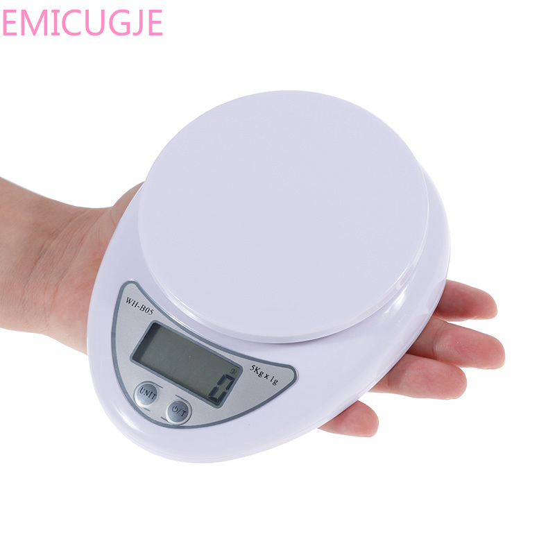 Weight Updated Version Anpro 5kg/1g 1kg/0.1g Portable Digital Scale LED Electronic Kitchen Scales Food Measuring