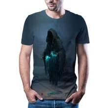 2020 kafatası 3D rahat erkekler ve kadınlar moda T-shirt komik korku kafatası 3D sokak animasyonu rahat erkekler ve kadınlar T-s