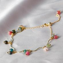 Natural Red Garnet Bracelet Female Ins Cold Style Crystal Girlfriends Gift Women Wrist Chain Elegant Jewelry Accessory