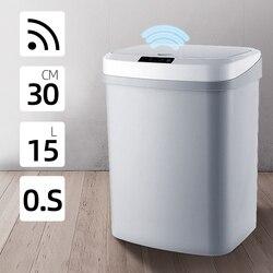Automatyczny bezdotykowy inteligentny czujnik ruchu indukcyjnego kuchenny kubeł na śmieci szeroki czujnik otwarcia ekologiczny kosz na śmieci